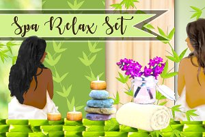 Spa Clipart & Background Papers