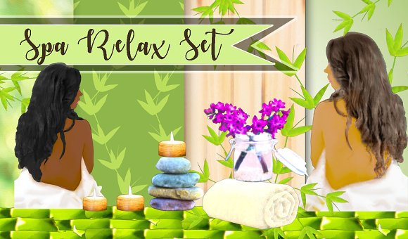 Spa Clipart Background Papers