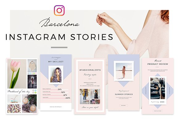 20 brilliant instagram story templates for brands bloggers creative market blog. Black Bedroom Furniture Sets. Home Design Ideas