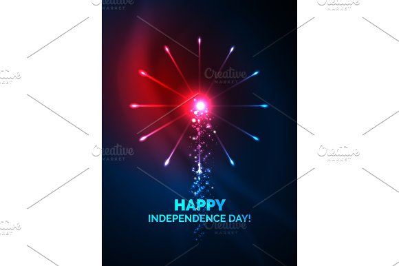 Happy Independence Day 4 July Fireworks Design