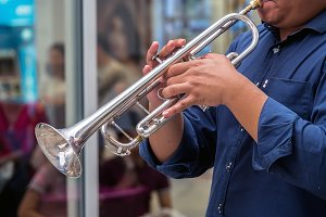 Trumpet at outdoor