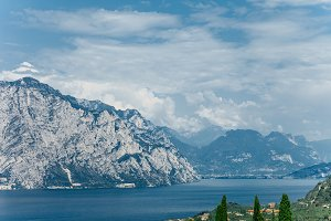 Scenic landscape of beautiful Garda