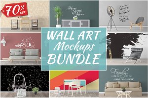 Wall Art Mockups BUNDLE V49