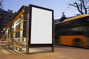 Bus stop mock up