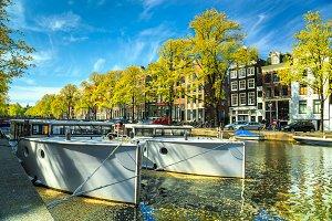 Amsterdam canals landscape