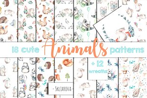 Animals. Patterns + Wreaths