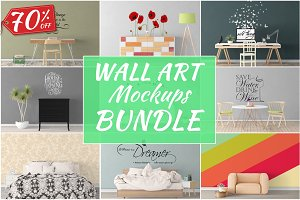 Wall Art Mockups BUNDLE V50