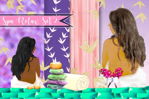 Spa Clipart Background Papers 2