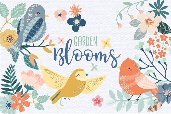 50% OFF SALE Garden Blooms Clipart