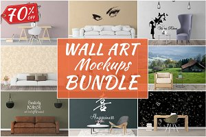 Wall Art Mockups BUNDLE V51