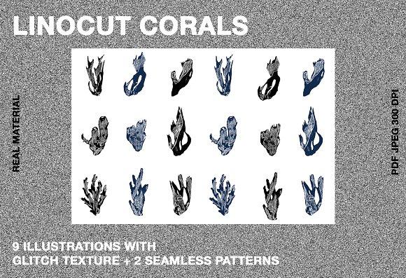 LINOCUT CORALS