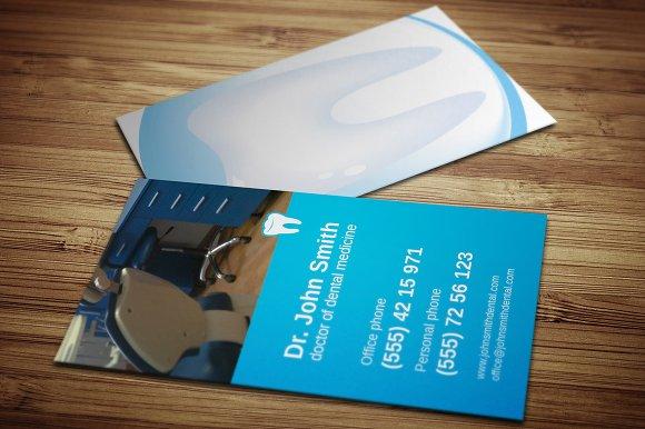 dentist business card business card templates creative market - Dentist Business Card