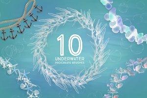10 Underwater Procreate Brushes