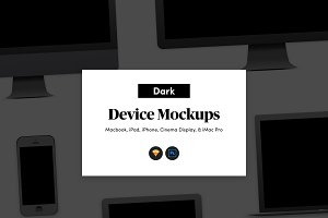 Dark Apple Device Mockups