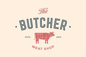 Label of Butchery meat shop