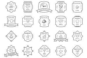 85 Cafe, Bakery, Hotel Badges/Labels