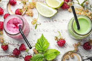 yogurt with mix of summer berry