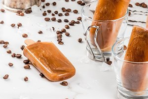 Sweet coffee popsicles