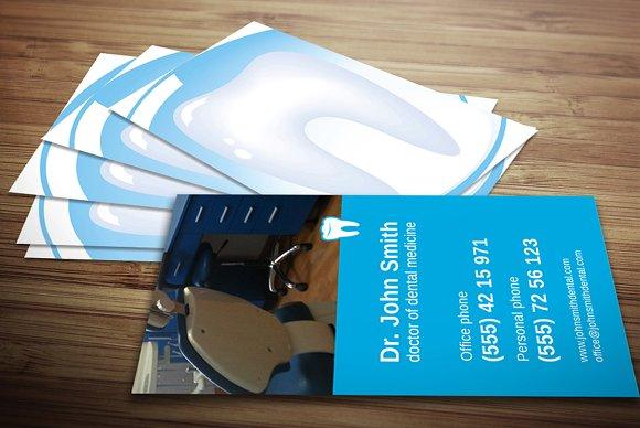 Dentist business card business card templates creative market colourmoves