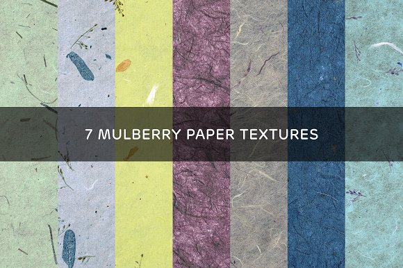 7 Mulberry Paper Textures