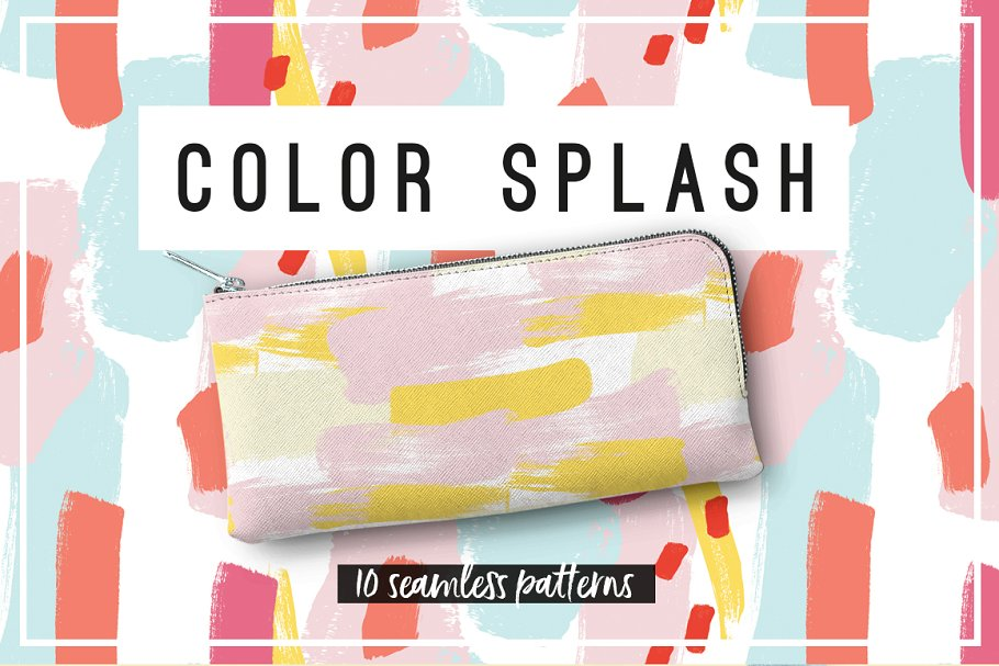 Color Splash Patterns ~ Graphic Patterns ~ Creative Market fa67323c1bc72