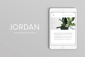 "40% OFF Jordan Website ""HTML Theme """