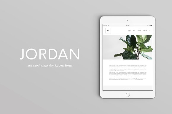 40% OFF Jordan Website HTML Theme