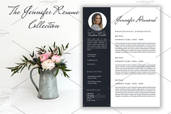 Navy White Resume Collection