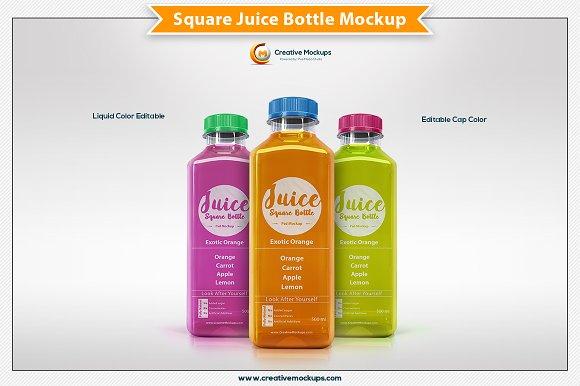 square juice bottle mockup product mockups creative market