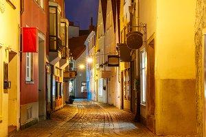 Medieval street Schnoor in Bremen, Germany