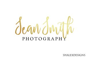 Photography Gold Logo PSD Template