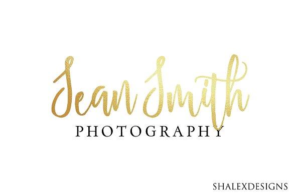 Photography Gold Logo PSD Template