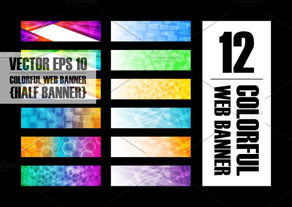 12 Abstract Colorful Banner