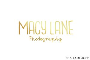 Photographer Logo PSD Template
