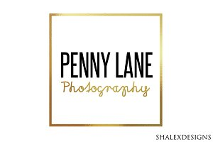 Gold Photographer Logo PSD Template