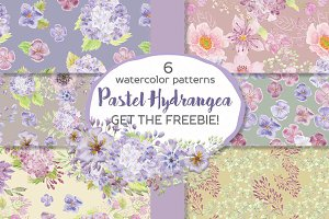 Hydrangea patterns + FREEBIE