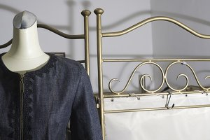 Mannequin with clothing