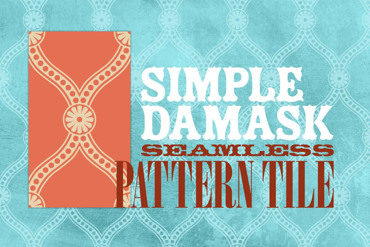 Simple Damask Seamless Pattern Tile ~ Graphic Patterns ...