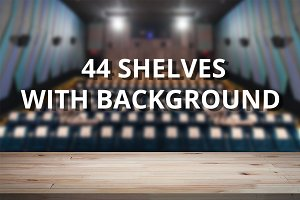 44 Shelves  with Background
