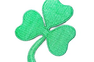 Embroidered shamrock