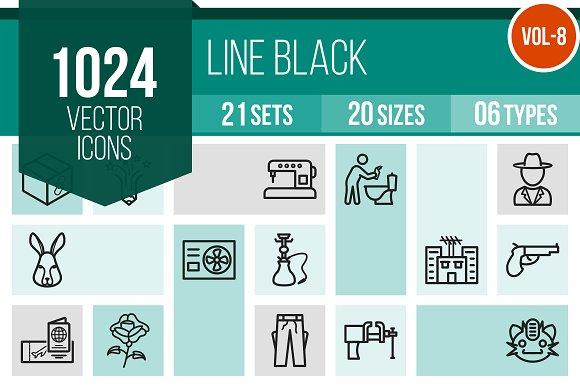 1024 Line Icons (V8)