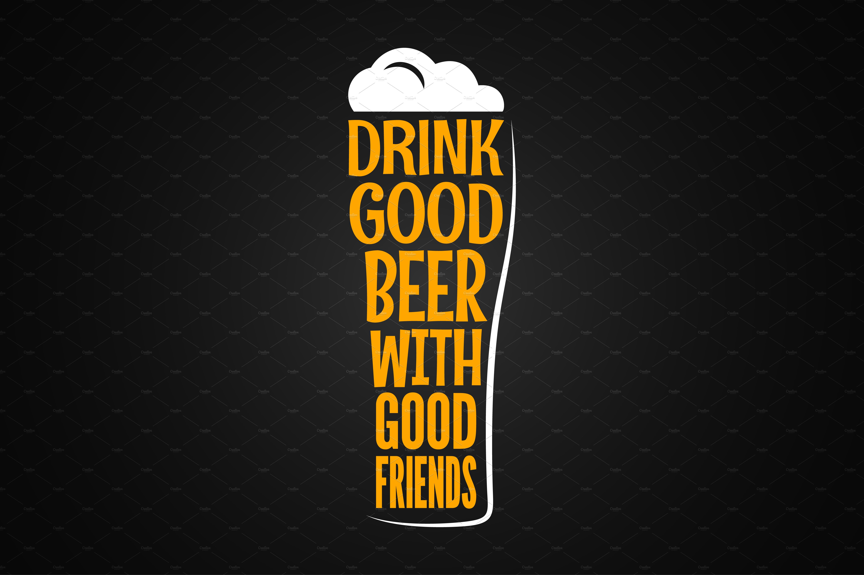 Beer Glass Logo Design Background Logo Templates