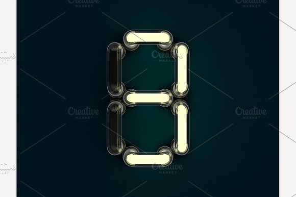 Neon Tube Number