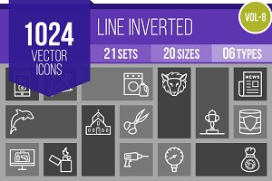 1024 Line Inverted Icons (V8)