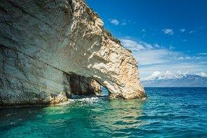 Blue caves in Zakynthos, Greece