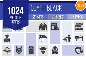 1024 Glyph Icons (V8)