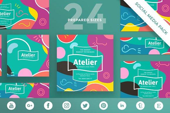 Social Media Pack Atelier