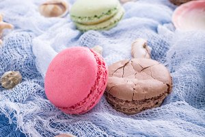 Assorted almond cookies macaroon