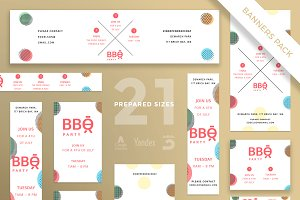 Banners Pack | BBQ Party