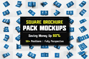 Square Brochure Mockups Pack Bundle